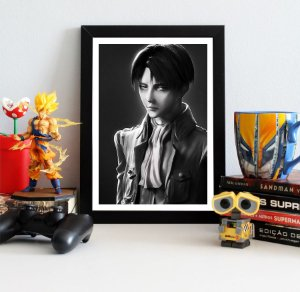 Quadro Decorativo Levi - Shingeki no Kyojin - QSK02
