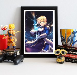 Quadro Decorativo Saber - Fate/Zero - QV117