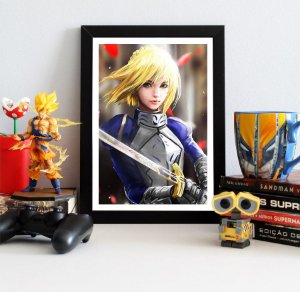 Quadro Decorativo Saber - Fate/Stay Night - QV113