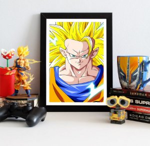 Quadro Decorativo Goku SSJ 3 - Dragon Ball - QV106