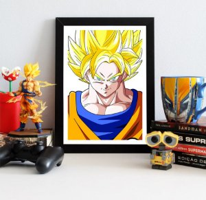 Quadro Decorativo Goku SSJ - Dragon Ball - QV104