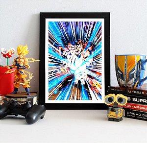 Quadro Decorativo Goku Kamehameha - Dragon Ball - QV99