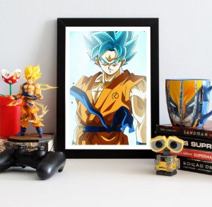Quadro Decorativo Goku Blue Aura - Dragon Ball - QDB15
