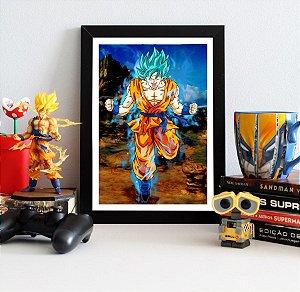 Quadro Decorativo Goku Blue DBS - Dragon Ball - QDB12