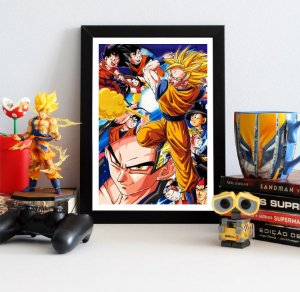 Quadro Decorativo Goku Super Saiyan - Dragon Ball - QDB18