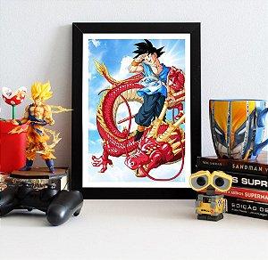 Quadro Decorativo Goku Red Dragon - Dragon Ball - QDB17