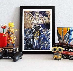 Quadro Decorativo Cavaleiros Do Zodíaco The Lost Canvas - QV95