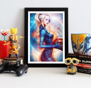 Quadro Decorativo Samus Aran Crystal - Metroid - QOA02