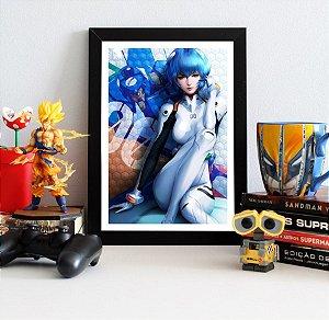 Quadro Decorativo Rei - Neon Genesis Evangelion - QEV02