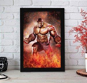 Quadro Decorativo Marvel - Hulk Fire - QMC20