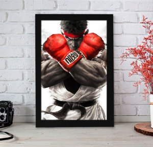 Quadro Decorativo Ryu - Street Fighter - QST05