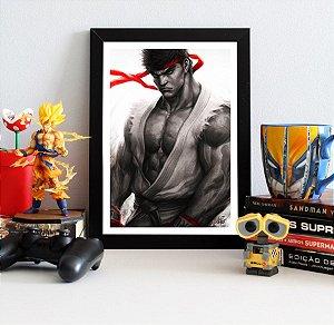 Quadro Decorativo Ryu - Street Fighter - QST04