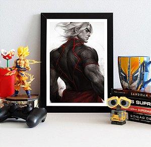 Quadro Decorativo Ken Masters - Street Fighter - QST03