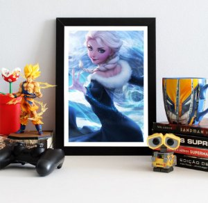 Quadro Decorativo Elsa Frozen - Disney - QDY04