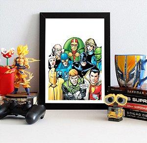 Quadro Decorativo DC - Liga da Justiça Cômica - QDC14