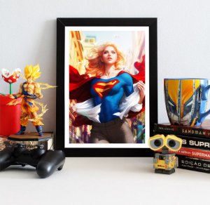 Quadro Decorativo DC - Supergirl Lives - QDC07