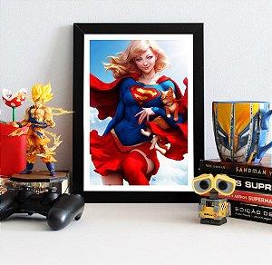Quadro Decorativo DC - Supergirl and Streaky - QDC06