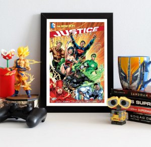 Quadro Decorativo DC - Comics Justice League New 52 - QDC02