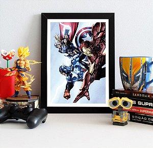 Quadro Decorativo Marvel - Trinity Heroic Age Avengers