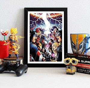 Quadro Decorativo Marvel - The Avengers vs X-men - QMC03