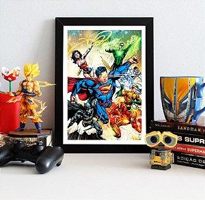 Quadro Decorativo DC - Liga da Justiça Novos 52 - QDC01