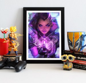Quadro Decorativo Sombra - Overwatch - QOW04