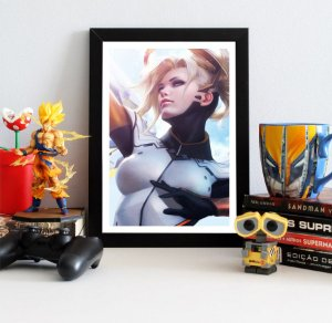 Quadro Decorativo Mercy - Overwatch - QOW02
