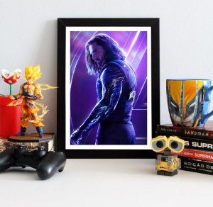 Quadro Decorativo Avengers Infinity War - Winter Soldier