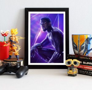 Quadro Decorativo Avengers Infinity War - Black Panther