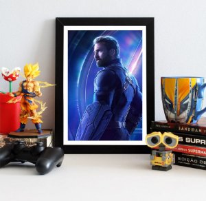 Quadro Decorativo Avengers Infinity War - Captain America
