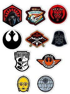 Ímãs Decorativos Star Wars Set A - 10 unid