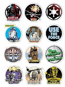 Ímãs Decorativos Star Wars Set D - 12 unid