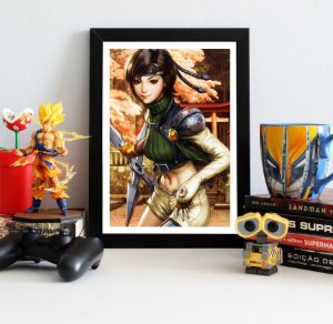 Quadro Decorativo Yuffie - Final Fantasy - QV385