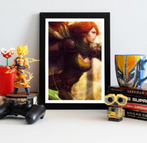 Quadro Decorativo Windranger - Dota 2 - QV388
