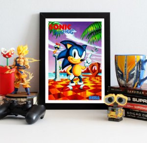 Quadro Decorativo Sonic The Hedgehog - Sonic - QV397