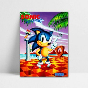 Poster A4 Sonic The Hedgehog - Sonic - PT397