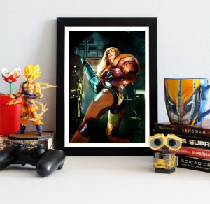 Quadro Decorativo Samus Aran - Metroid - QV398