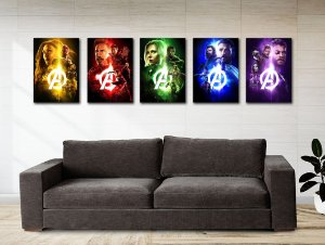Kit 5 Placas Decorativas MDF Avengers Infinity War - KMDF03