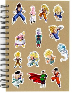 Adesivos Dragon Ball Set F - Saga Buu - 14 unid