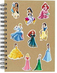 Adesivos Princesas Disney Set C - 10 unid