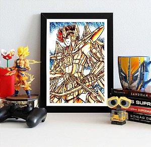 Quadro Decorativo Seiya - Cavaleiros do Zodíaco - QV248