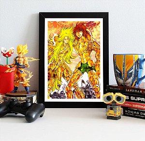Quadro Decorativo Shion e Dohko - Cavaleiros do Zodíaco - QV249