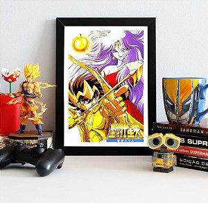 Quadro Decorativo Seiya e Eris - Cavaleiros do Zodíaco - QV274