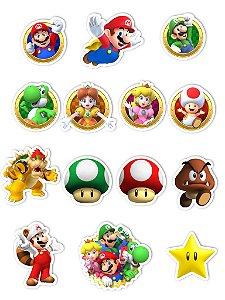 Ímãs Decorativos Super Mario Set B - 14 unid
