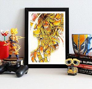 Quadro Decorativo Shion - Cavaleiros do Zodíaco - QV452