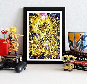 Quadro Decorativo Cavaleiros de Ouro - Saint Seiya - QV481