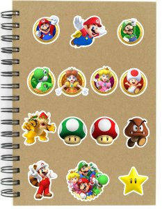 Adesivos Super Mario Set B - 14 unid
