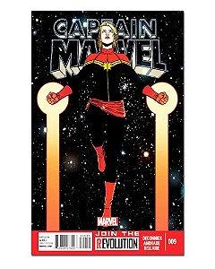Ímã Decorativo Capa de Quadrinhos - Capitã Marvel - CQM16