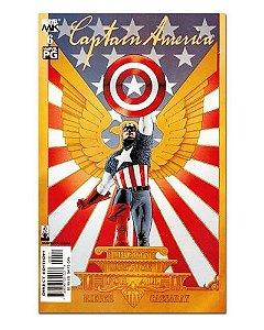 Ímã Decorativo Capa de Quadrinhos - Capitão América - CQM25