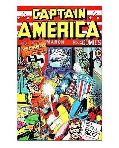 Ímã Decorativo Capa de Quadrinhos - Capitão América - CQM29